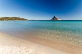 beach with Tavolara isle at 50 mt. of the villa