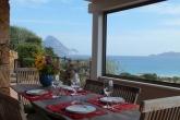 Veranda coperta con vista isole